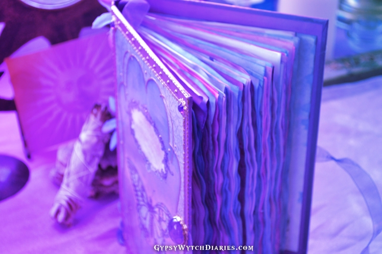 Handmade fairy book of shadows witchcraft journal.