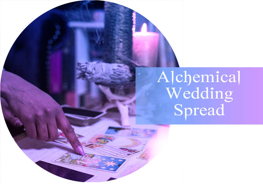 alchemical wedding tarot spread icon